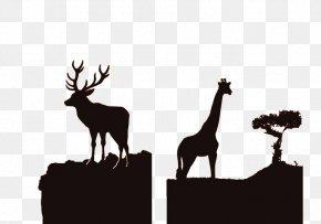 African Wildlife Silhouette - Africa Reindeer Silhouette Wildlife PNG