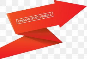 Speech Bubble Red Creative Vector Accordion Effect - Euclidean Vector PNG