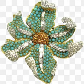 Jewellery - Turquoise Brooch Jewellery Costume Jewelry Necklace PNG
