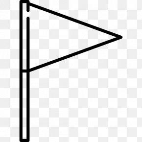 Triangular Flag - Triangle Flag PNG