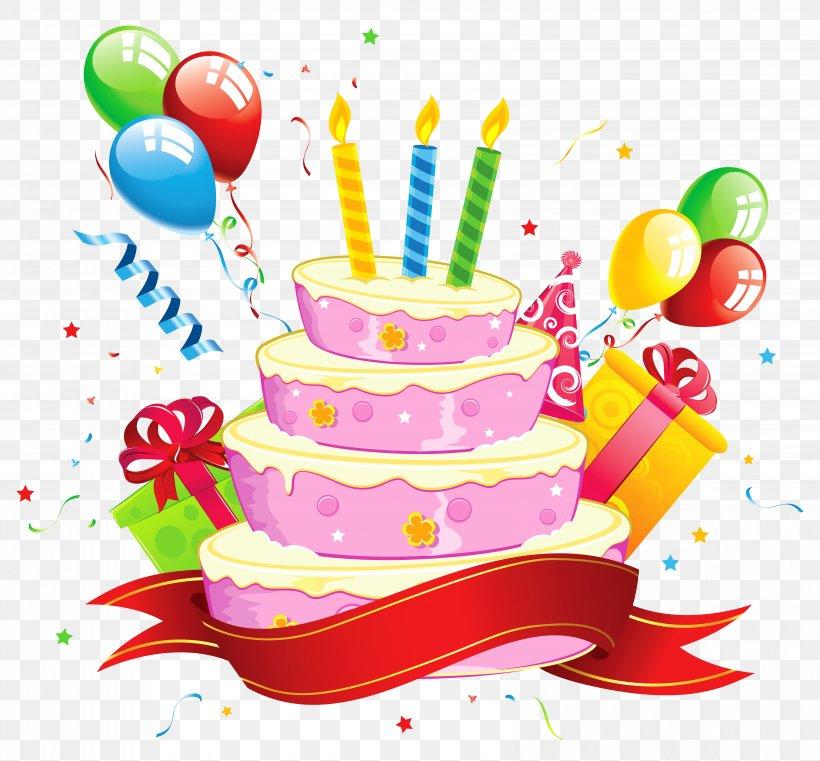 Birthday Cake Party Clip Art, PNG, 6561x6091px, Birthday Cake, Balloon, Birthday, Cake, Cake Decorating Download Free