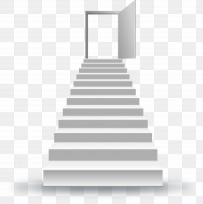 Stairs Leading To The Door To Success - Stairs Stock Photography Clip Art PNG