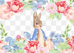 Watercolor Rabbit In The Garden - The Tale Of Peter Rabbit Watercolor Painting Clip Art PNG