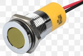 12 Volt Led Tv - Yellow Light-emitting Diode Cable Television Millimeter Lamp PNG