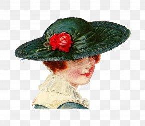 Womens Hats Cliparts - 1940s Hat Vintage Clothing Antique Clip Art PNG