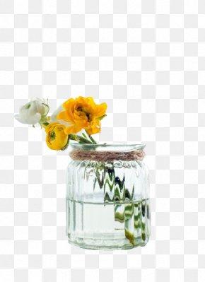 A Bottle Of Flowers - Bottle Glass Flower PNG