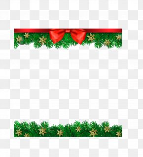Vector Hand-painted Christmas Decoration Border PNG