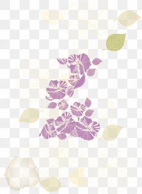 Purple Flowers - Pink Petal Pattern PNG