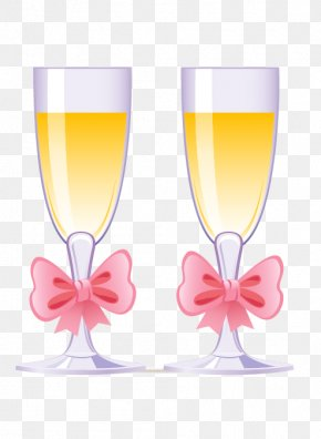 Champagne - Champagne Wine Glass Wedding Cake PNG