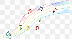 Drawing Color Musical Note - Musical Note Choir PNG