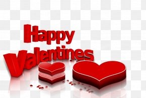 Happy Valentine's Day - Valentine's Day White Day Wedding Red Letter Day PNG