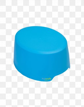Baby Blue Stool - Turquoise Plastic PNG