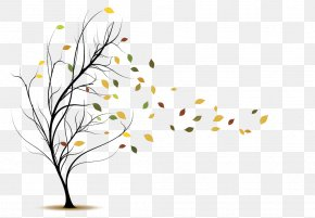 Hand-painted Wind Blowing Leaves - Wind Leaf Royalty-free Clip Art PNG