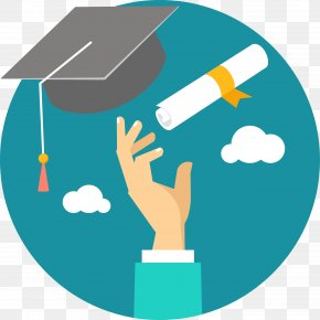 Throw The Master Cap And Certificate In The Sky - Student Education Graduate University Icon PNG