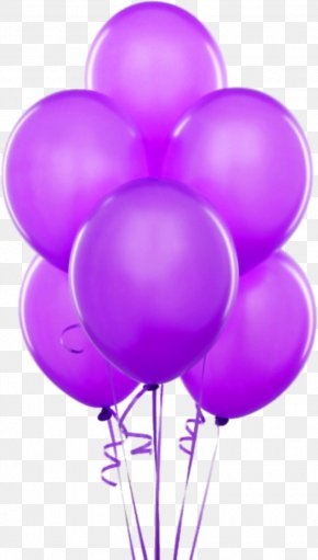 Purple Transparent Balloons Clipart - Balloon Gold Birthday Party Helium PNG