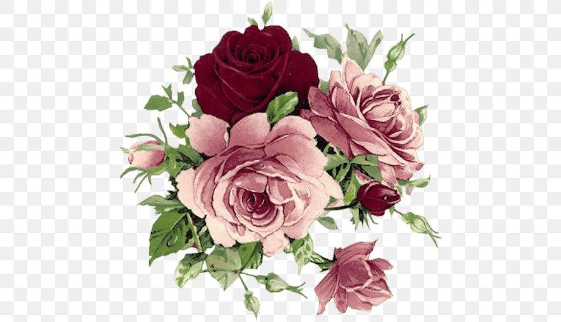 Vintage Clothing Floral Design Flower Rose Decoupage, PNG