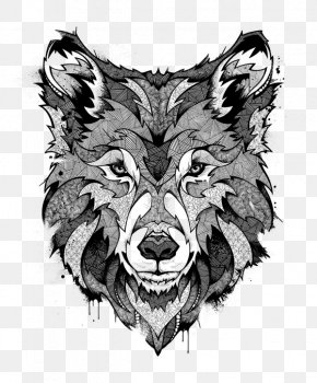Angry Wolf Drawing Art - Wolf Clip Art Drawing Behance PNG