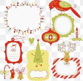 Vector Cute Christmas Picture Frame Material Free Download - Euclidean Vector Cartoon PNG