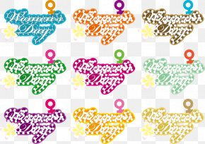 Day Font Elements - Typeface International Womens Day Clip Art PNG