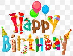 Funny Happy Birthday Clipart Image - Birthday Cake Wish Clip Art PNG