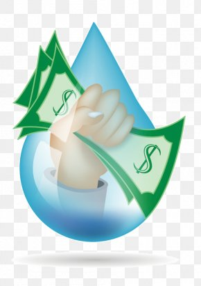Water Drop - Water Conservation Water Efficiency Water Services Money PNG
