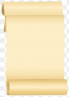 Scroll Clipart Image - Rectangle Yellow Material PNG