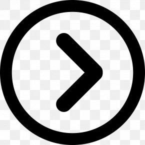 Right Arrow - Copyright Symbol Public Domain Clip Art PNG