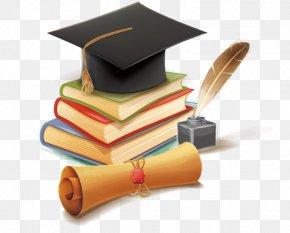 Vector Hand-painted Dr. Cap - Hat Bachelors Degree Doctorate Graduation Ceremony Designer PNG