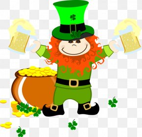 Saint Patrick's Day - Leprechaun Saint Patrick's Day Cartoon Clip Art PNG