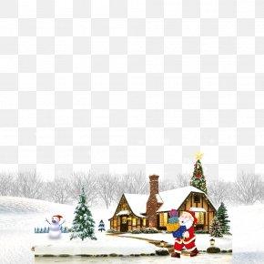 The Winter Snow House - Download Gratis Christmas Tree PNG