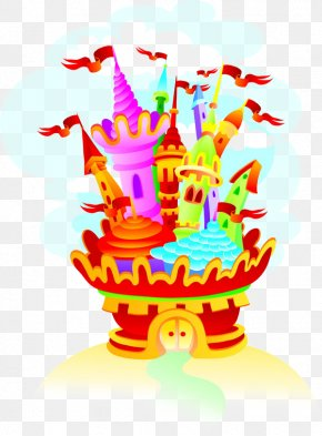Element Color Cartoon Castle - Cartoon House Royalty-free Cdr PNG
