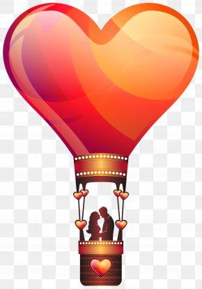 Love Hot Air Balloon - Love Valentine's Day Hot Air Balloon Romance PNG