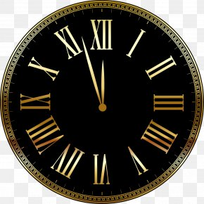 Vector Clock Approaching 12:00 - New Year Computer File PNG