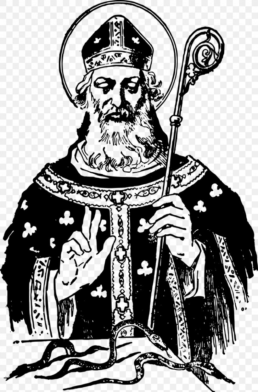 Down Cathedral Saint Patrick's Day March 17 Clip Art, PNG, 842x1280px, Down Cathedral, Art, Bishop, Black And White, Comics Artist Download Free