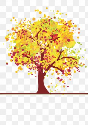 Tree - Tree Autumn Leaf Color PNG