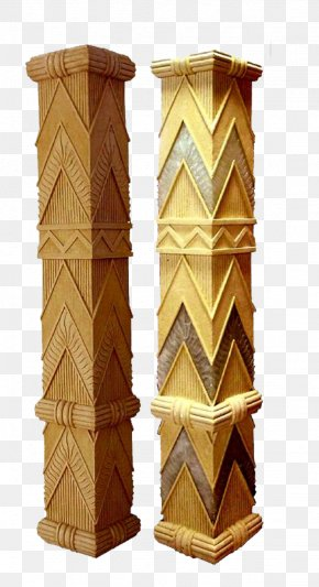 Square Decorative Columns - Column Sculpture Stone Decorative Arts Curtain Wall PNG