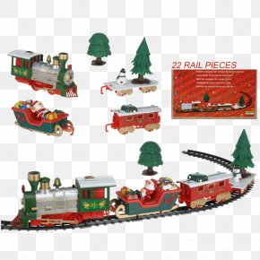 Train - Toy Trains & Train Sets Santa Claus Passenger Car Rail Transport PNG