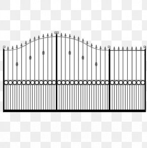 Sliding Gate - Fence Gate Wrought Iron Door Material PNG