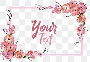 Romantic Pink Sakura Decorative Box - Euclidean Vector Adobe Illustrator PNG