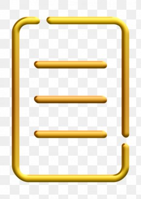 Yellow Order Icon - Book Icon Ecommerce Icon List Icon PNG