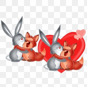 Bunnies Clipart - Easter Bunny Rabbit Valentine's Day Desktop Wallpaper Clip Art PNG
