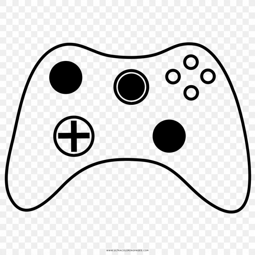 Black & White Game Controllers Video Game Coloring Book ...