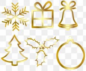 Christmas Gold Elements Clip Art Image - Christmas Chemical Element Clip Art PNG