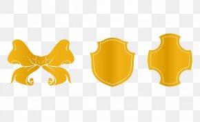 Butterfly Golden Shield Vector - Euclidean Vector PNG