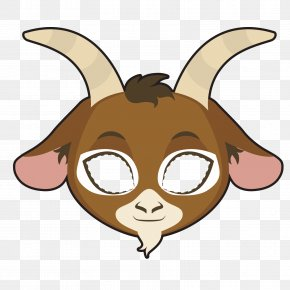 Vector Goat Mask - Goat Euclidean Vector Illustration PNG