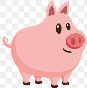 Pink Pig - Pig Clip Art PNG