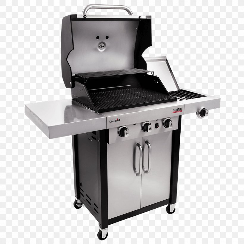 Barbecue Grilling Char-Broil Signature 4 Burner Gas Grill Gasgrill, PNG, 1000x1000px, Barbecue, Charbroil, Charbroil Patio Bistro, Charbroil Patio Bistro Gas 240, Chicken As Food Download Free