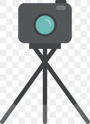Video Recording Camera - Video Camera Tripod Animation Drawing PNG