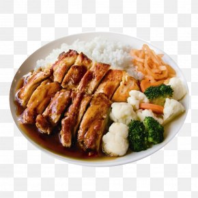 Grilled Chicken Rice - Barbecue Chicken Recipe Fast Food Asian Cuisine Fried Chicken PNG