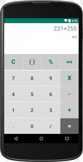Android - Simple Calculator Android User Interface Design PNG